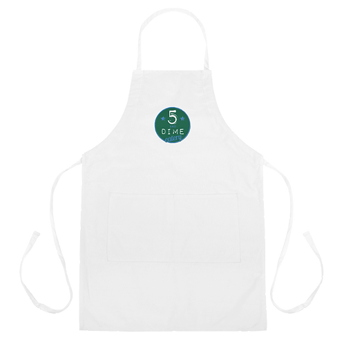 5 and Dime Embroidered Apron