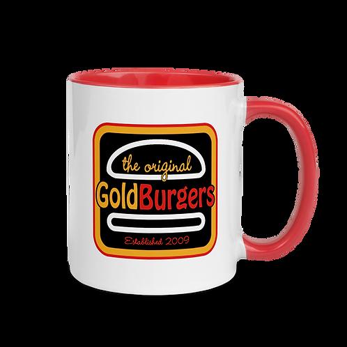 Goldburgers Logo Red and White Mug