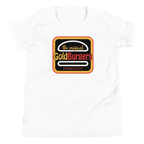 Goldburgers Logo Youth T-Shirt - White
