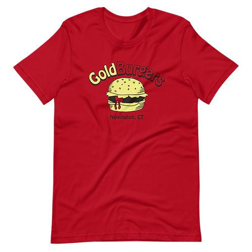 Goldburgers Old School Logo - Ketchup Red