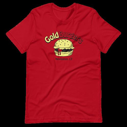 Goldburgers Old School Logo - Ketchup Red