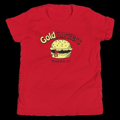 Goldburgers Old School Logo Youth T-Shirt - Ketchup Red