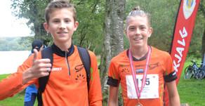 Mosvannsløpet: Sterke unge gutteløpere, Erik Tangen G, Vienna D. og Christina T mot solid NM form