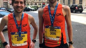 Barcelona: Erlend & Eirik, halvmaraton PB