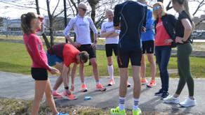 Været, sko og løpere aldeles utmerket da treningsgruppa forflyttet til rekordløypa på Forus lørdag