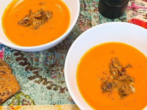 Ginger Carrot Plant-Based Vegan Soup Recipe