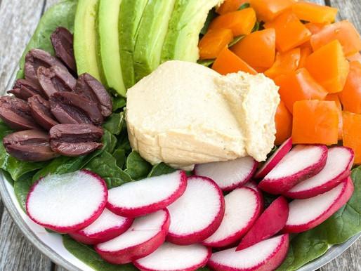 Hummus Avocado Vegan Plant-Based Vegan Salad