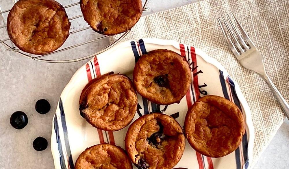 Vegan Blueberry Banana Mini Muffins
