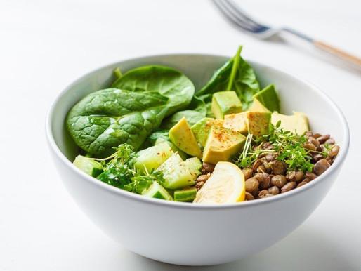 Lentil Avocado Plant-Based Vegan Salad