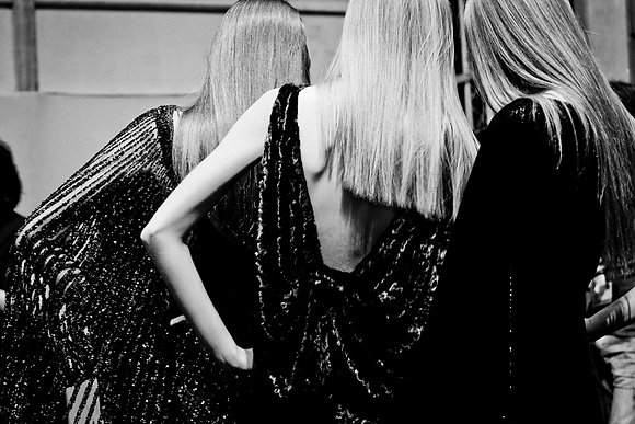 Blonde, Backstages Elie Saab, Fashion week, Paris