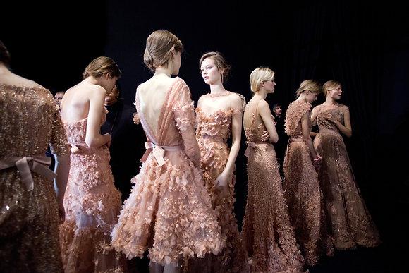 Pink dresses - Backstage défilé Elie Saab