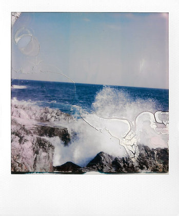 POLAROID - Turbulent sea, St-Jean-Cap-ferrat, France - Exemplaire unique