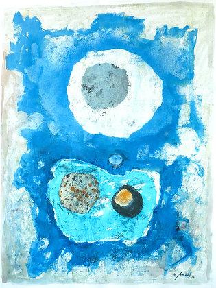 Michel Jamart - Abstrait #1, 1971 - Reproduction 40 x 60 cm