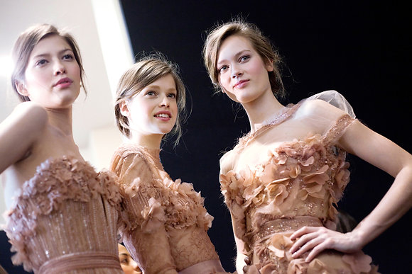 Pink dresses #2, backstages Elie Saab, fashions week, Paris