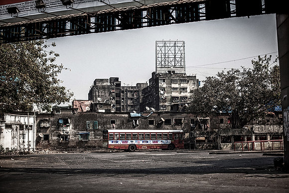 Red bus, Mumbai, India