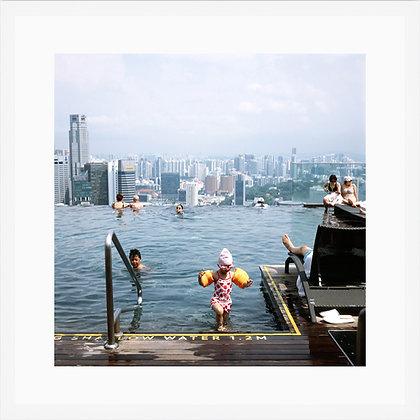 La petite nageuse, Marina bay sand, Singapour