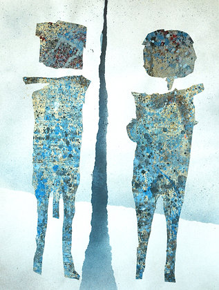 Michel Jamart - Couple #1, 1971 - Reproduction 40 x 60 cm