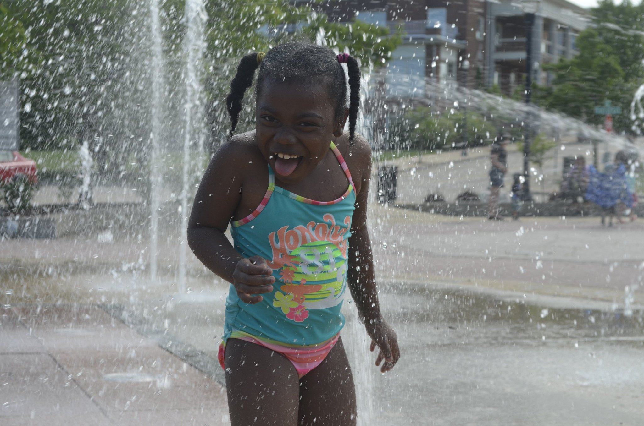 Enjoying water in the summer