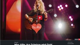 Miss Allie beim 3sat Festival 2021