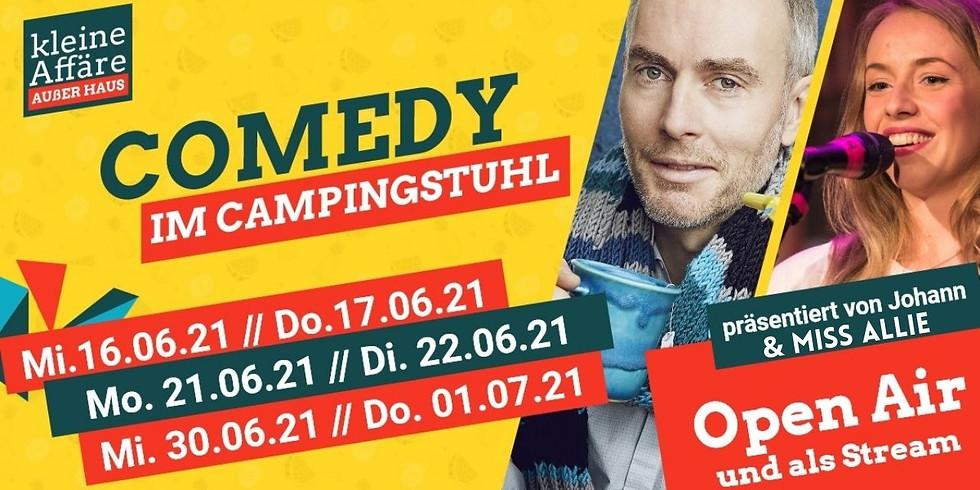 COMEDY IM CAMPINGSTUHL mit Johann König und Miss Allie