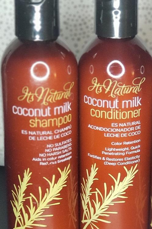 Influance's Cocunut Milk Shampoo and Conditioner Bundle
