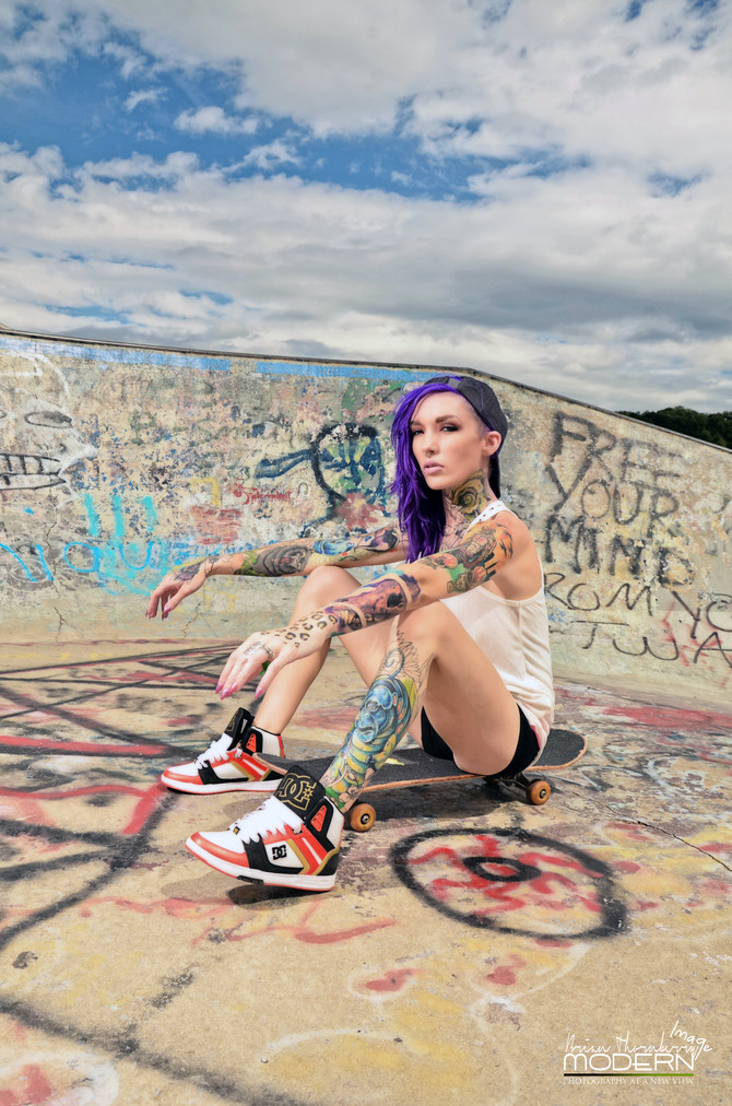 Modern Image and Elizabeth A. Fox @ Akron, OH Skate Park