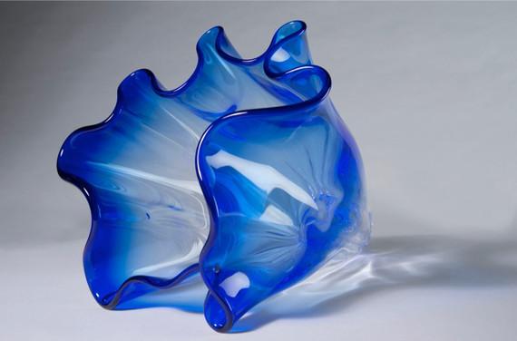 Blauw glas