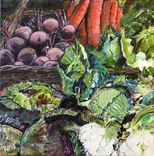RB338-083 Stroud Vegetables by Rosy Burk