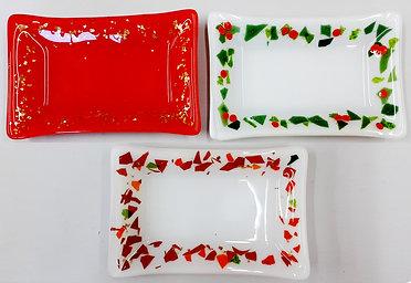 JW Christmas rectangular dishes