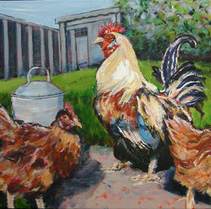 RB333-212 Tom's Chickens by Rosy Burke.j