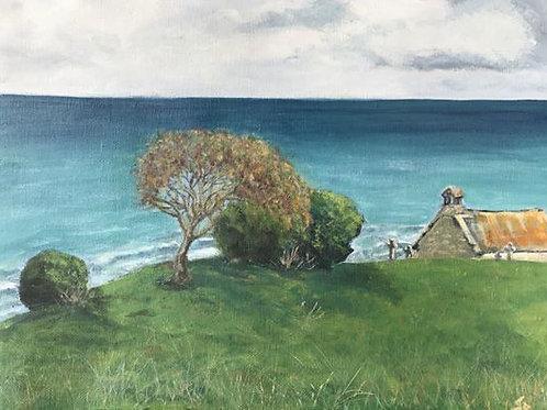 JB Overlooking Porthmoer Beach