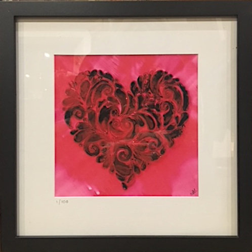 LH02 Heart Print