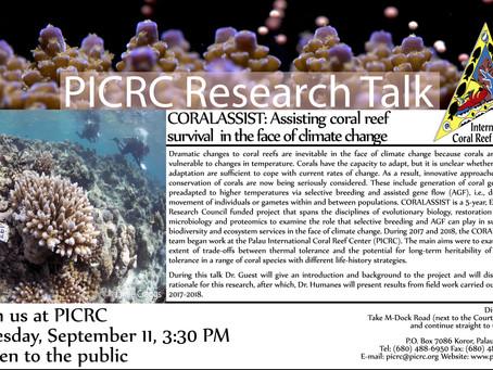 PICRC Reserach Talk: Coralassist