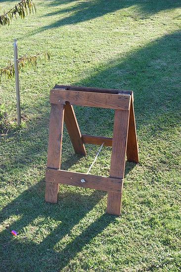 Rustic wood easel