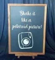 Polaroid Picture Sign