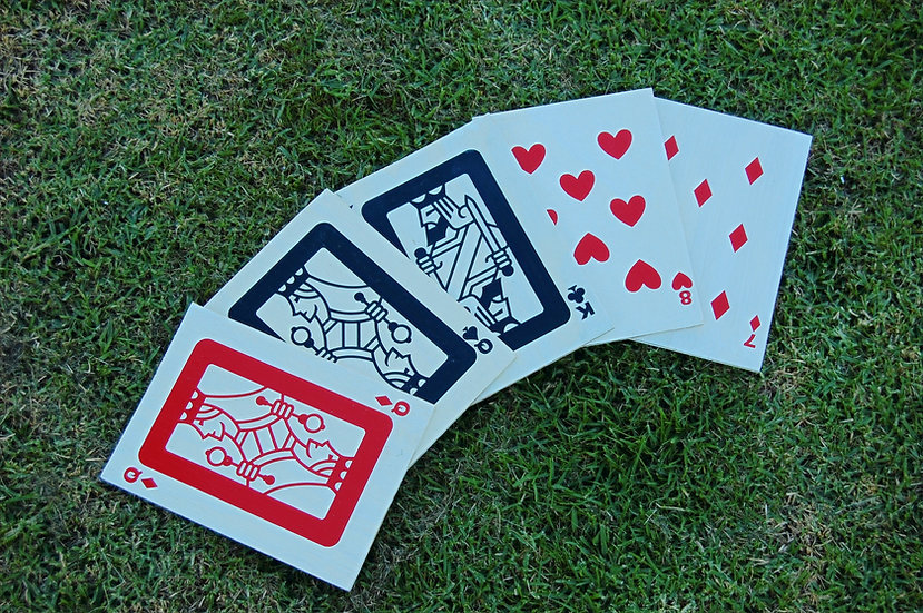 Giant Wooden Card Deck