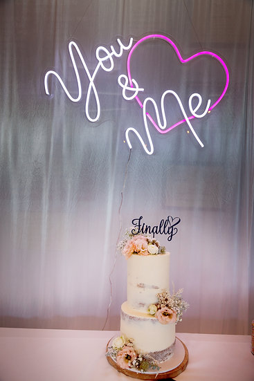 """""""You & Me"""" Neon sign"""