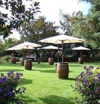 Wine Barrel + Umbrella Combo