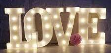 22cm LED 'LOVE' Letters