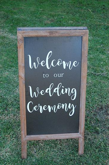 """Welcome"" Chalkboard sign"