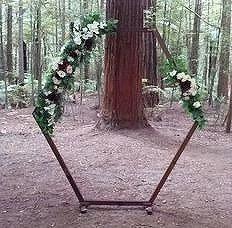 Hexagon Wood Arch