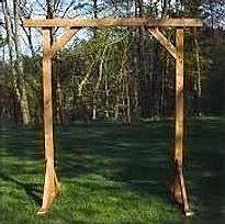 Rustic Wood Cross Bar Arch