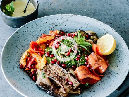 Sud'n'Sol tabouleh / grilled veggies / saffron / lemon dressing