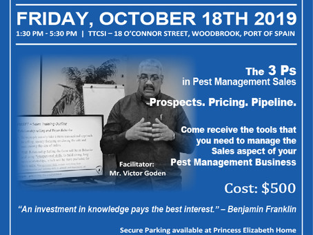 Training Workshop - The 3 Ps in Pest Management Sales