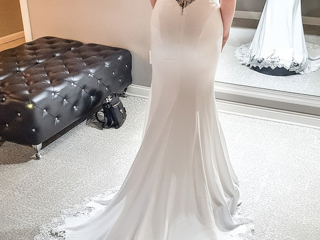 Your wedding dress — it may be new, used, borrowed or blue