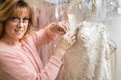 Local bridal designer personalizes your gown