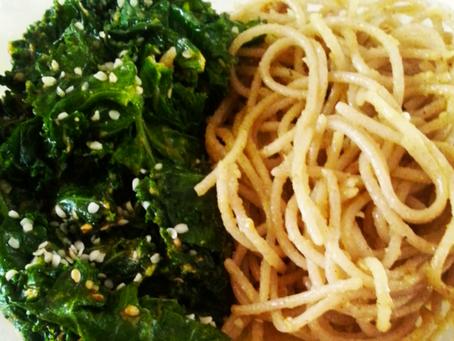 Kale Noodle Bowl - Gluten Free & Vegetarian