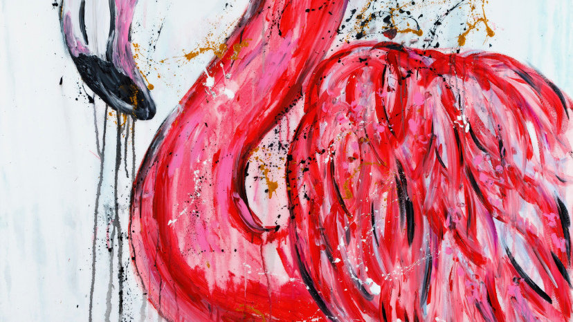 Le rose en reproduction sur Acrylique