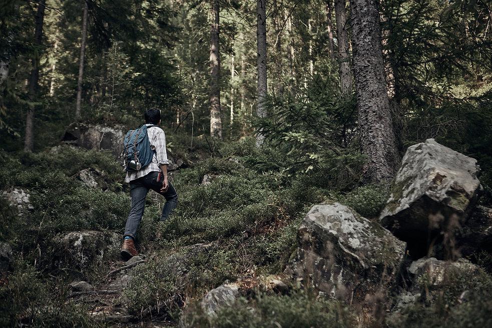 Man vandring i vildmarken