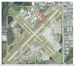 Location of facility circled in red
